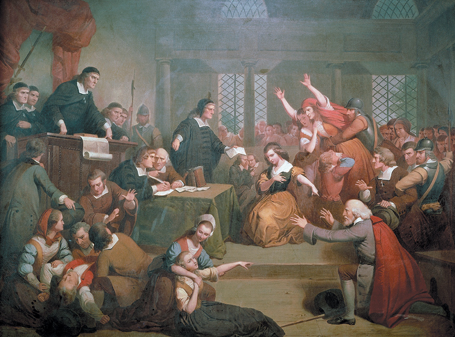 'The Trial of George Jacobs Sr. for Witchcraft, August 5, 1692'; painting by Tompkins Harrison Matteson, 1885